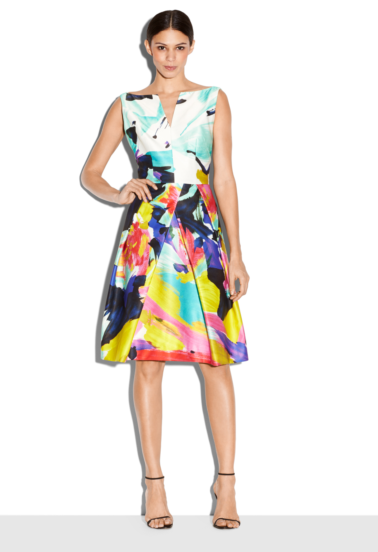 Lyst - Milly Abstract Floral Marilia Cocktail Dress