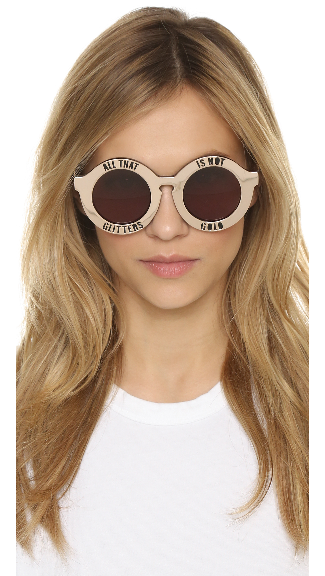 ac1e664fd438 Lyst - House of Holland On A Metal Sunglasses in Pink