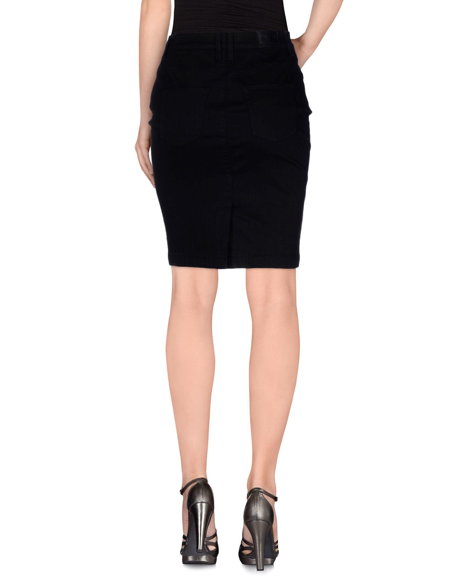 0819f58e67 Burberry Brit Denim Skirt in Black - Lyst