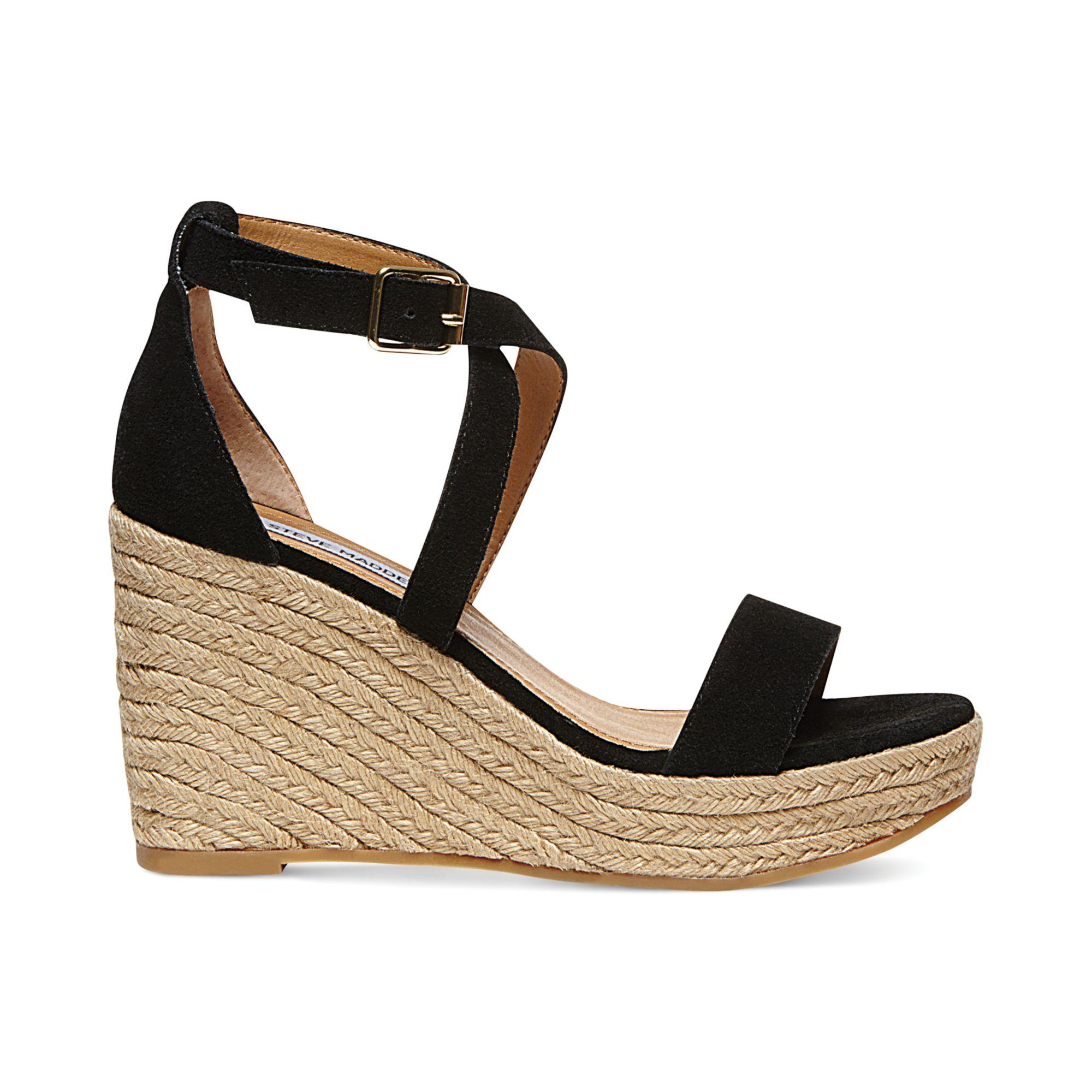 Lyst - Steve Madden Womens Montaukk Platform Wedge Sandals ...
