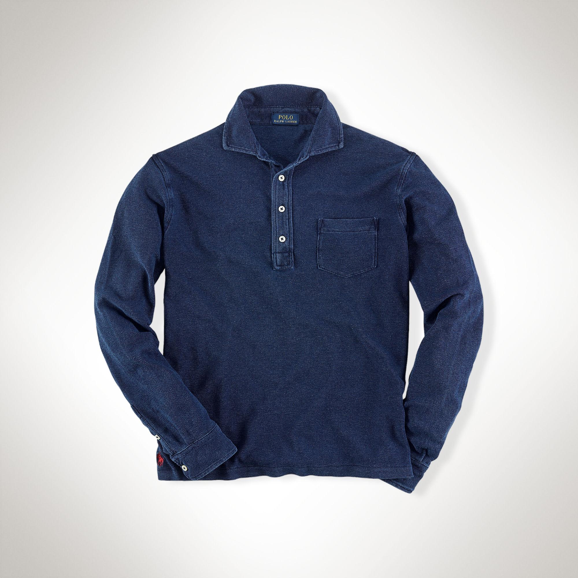 840dafc2b0d Polo Ralph Lauren Featherweight Mesh Polo Shirt in Blue for Men - Lyst