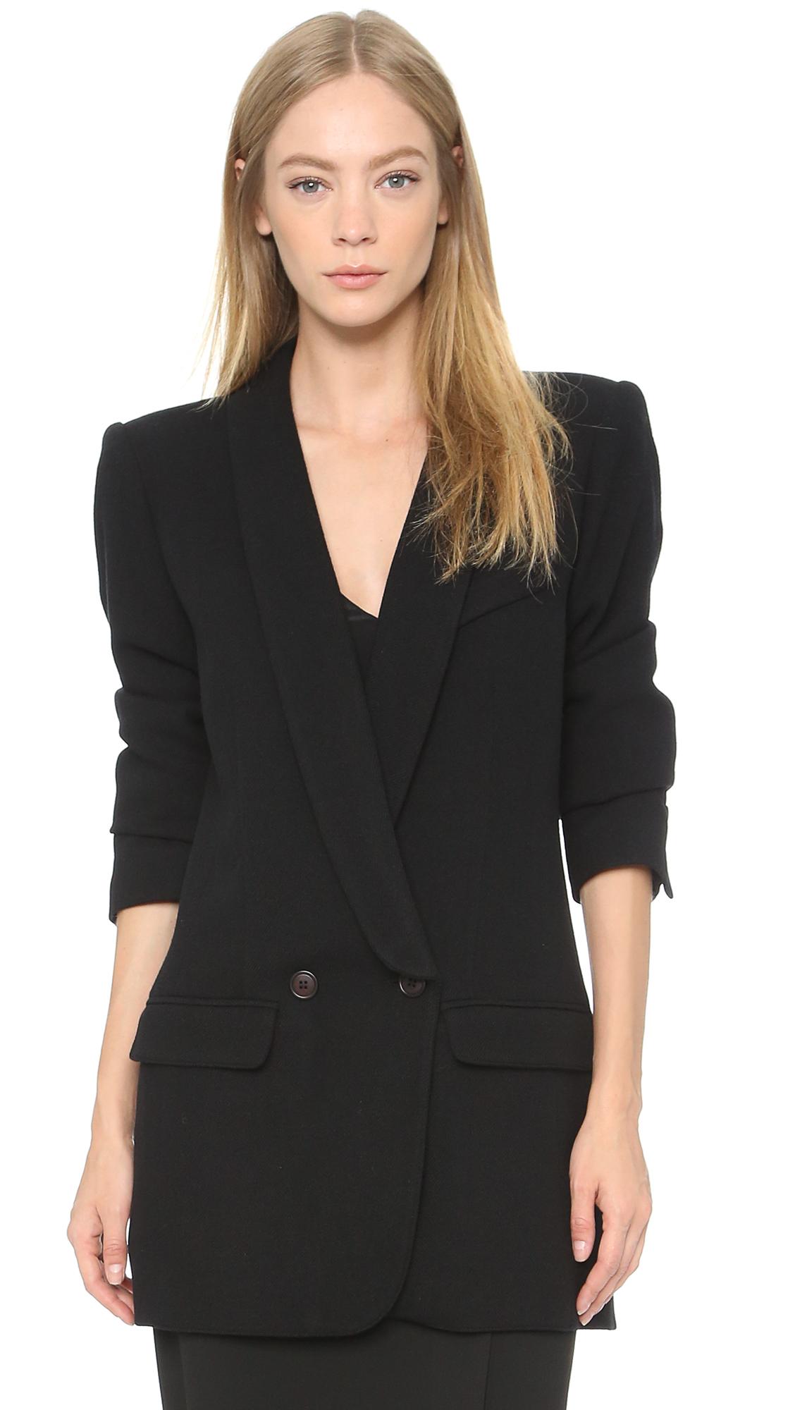 smythe oversized blazer black in black lyst. Black Bedroom Furniture Sets. Home Design Ideas