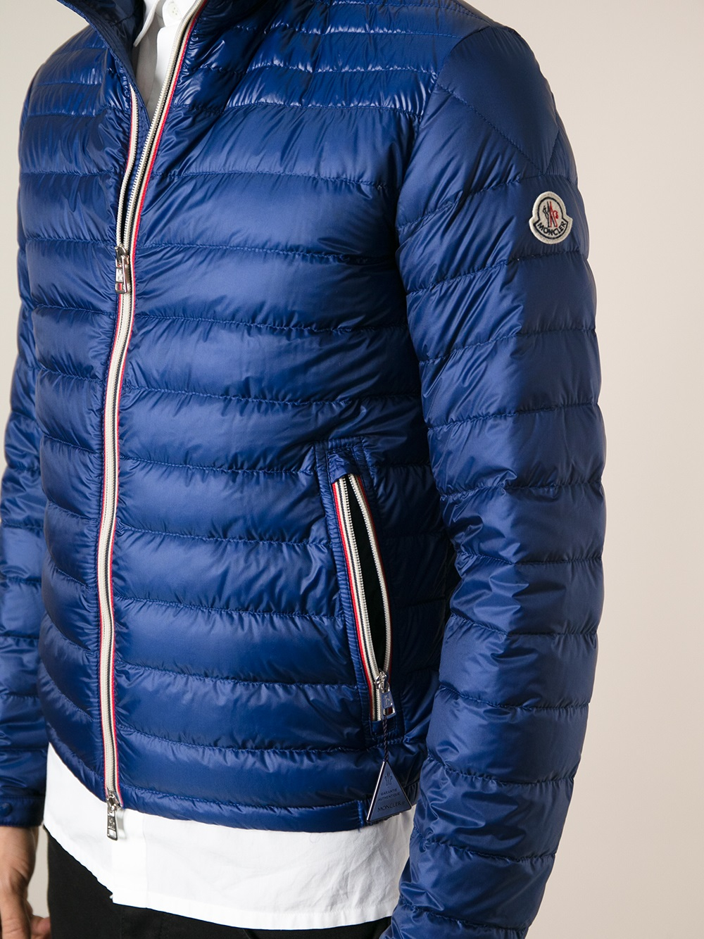 moncler daniel down jacket in blue for men lyst. Black Bedroom Furniture Sets. Home Design Ideas