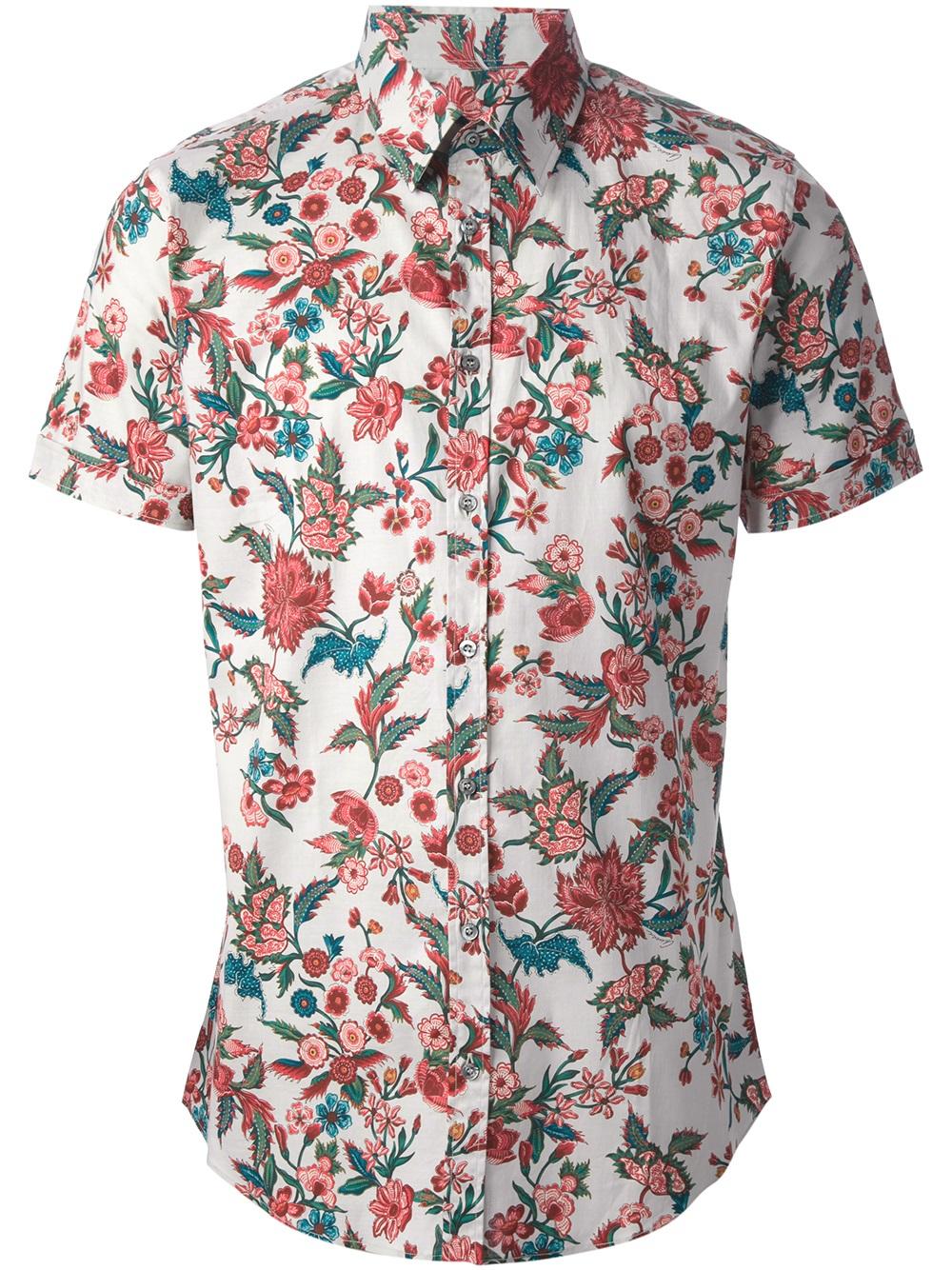 Gucci Floral Print Shirt For Men Lyst