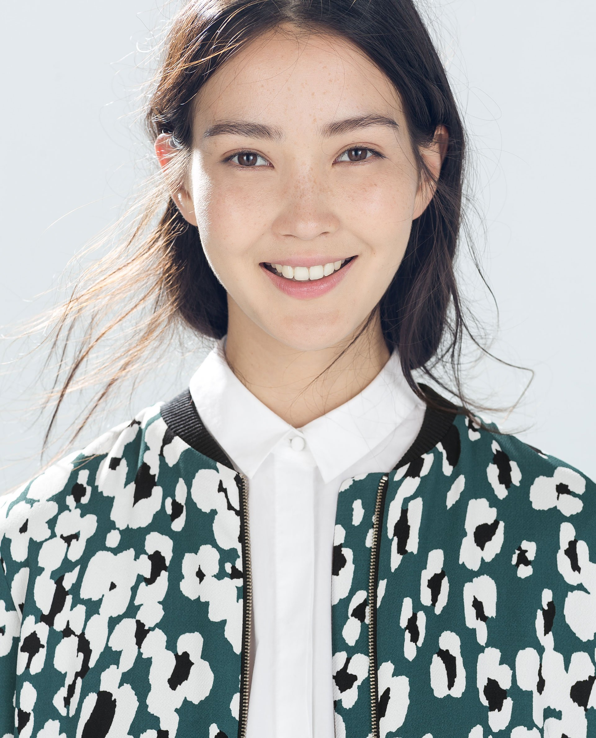 Zara Printed Bomber Jacket in Green | Lyst