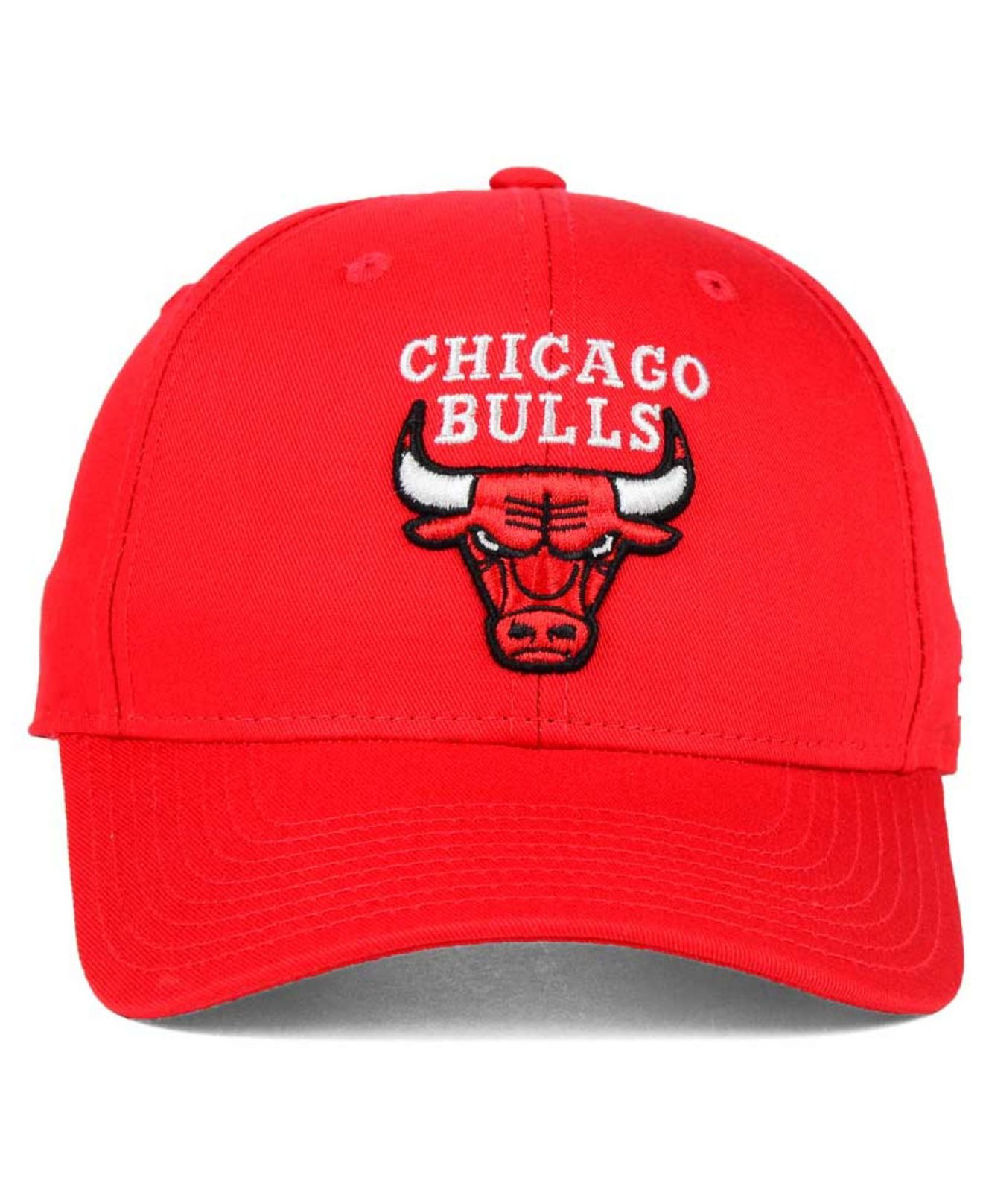 e9d9fd8542f Lyst - adidas Chicago Bulls Structured Basic Adjustable Cap in Red ...