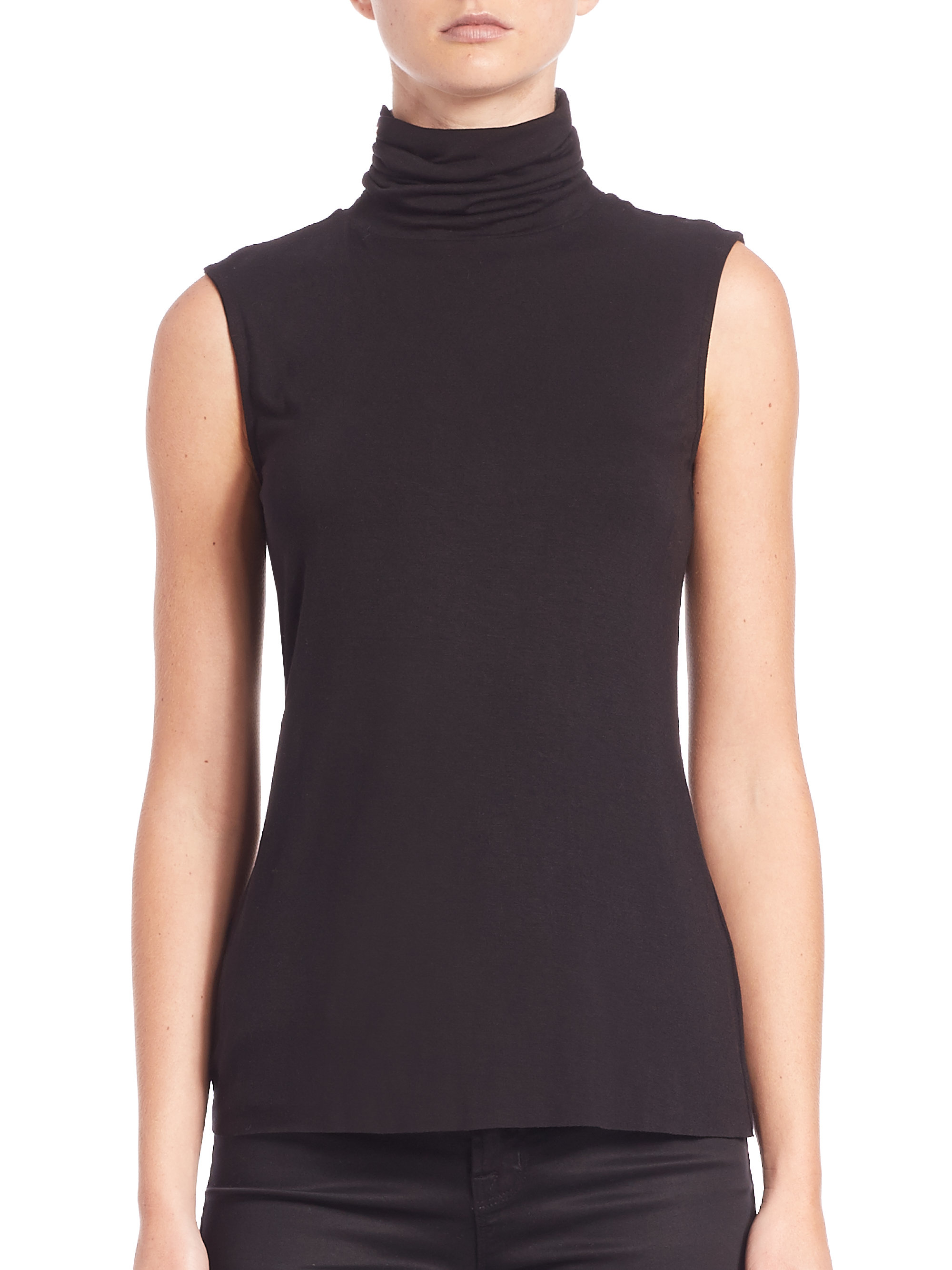 Bailey 44 Tippi Sleeveless Turtleneck Top In Black Lyst