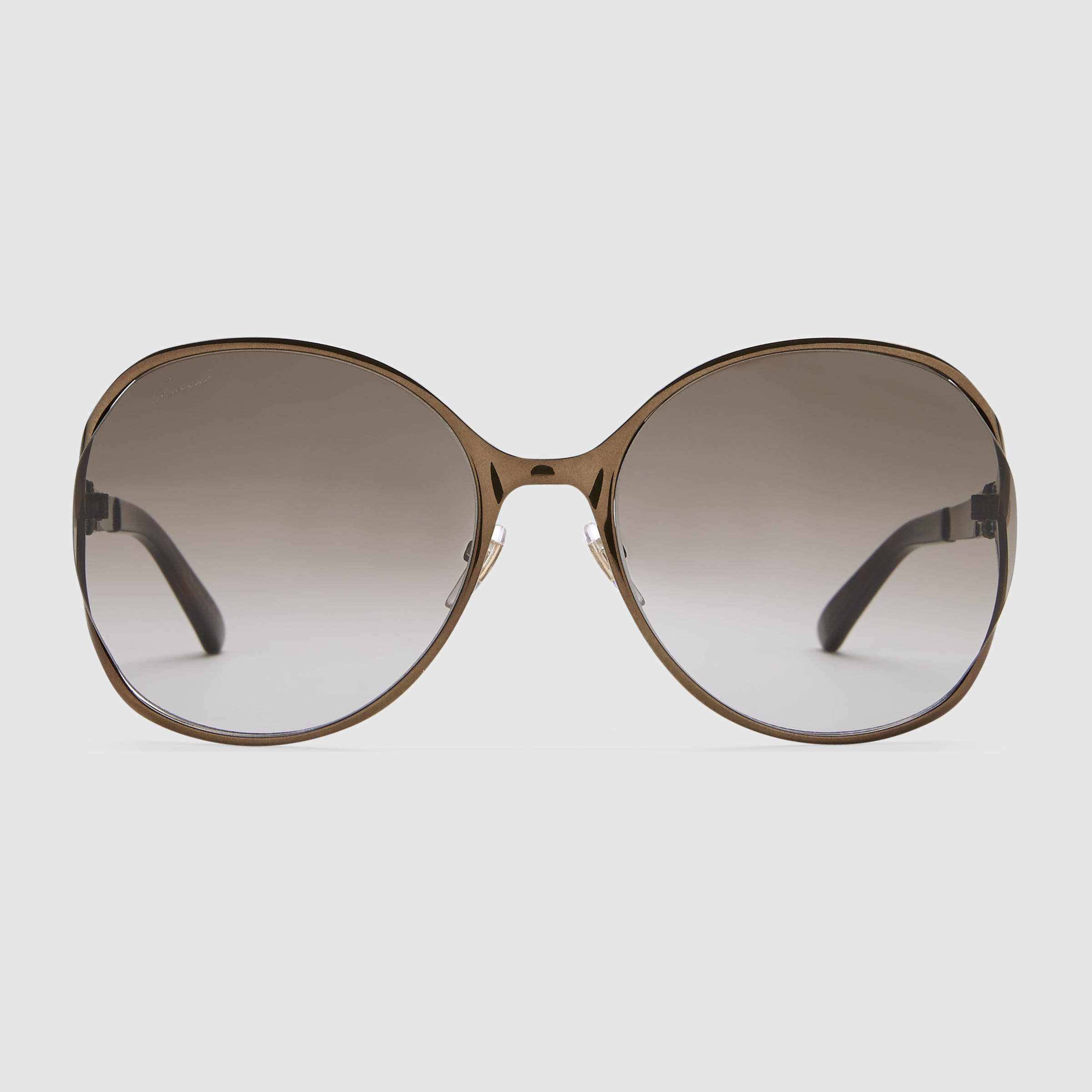 Gucci Metal Frame Glasses : Gucci Round-frame Metal Sunglasses in Black Lyst
