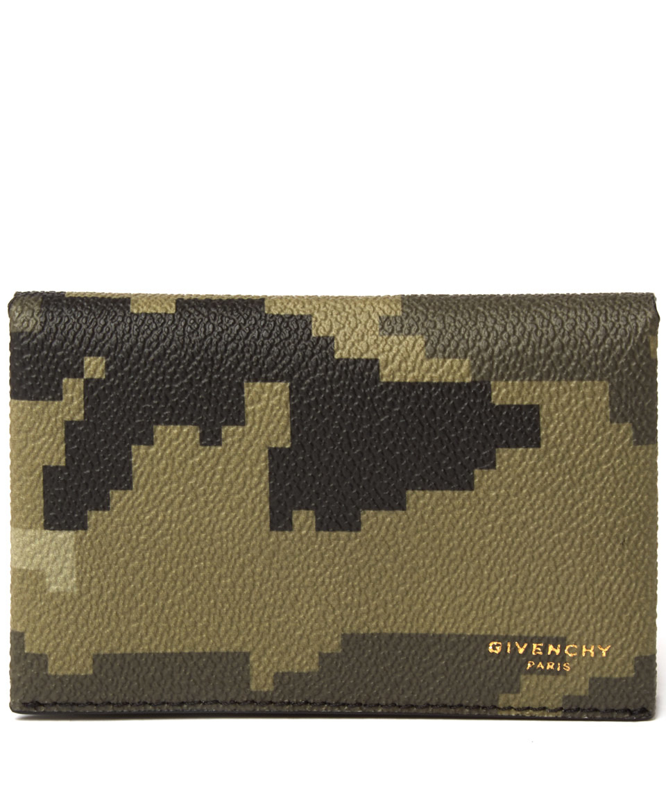 Lyst givenchy camouflage business card case in green for men gallery colourmoves