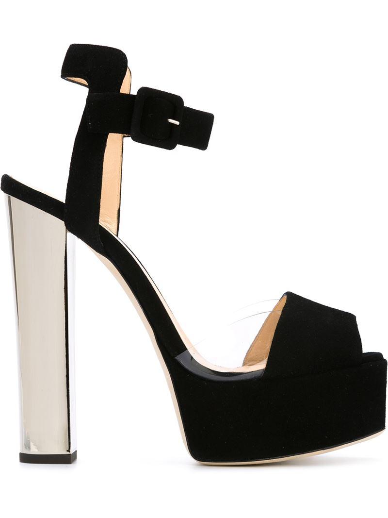 427203131deb4 Giuseppe Zanotti 'betty' Platform Sandals in Black - Lyst