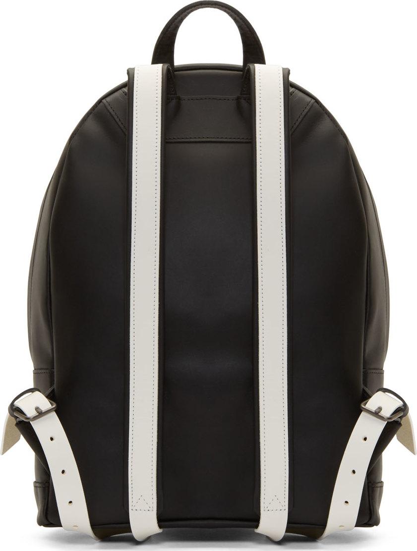 2e9660b6400 Lyst - PB 0110 Ssense Exclusive Black And White Matte Leather Small ...