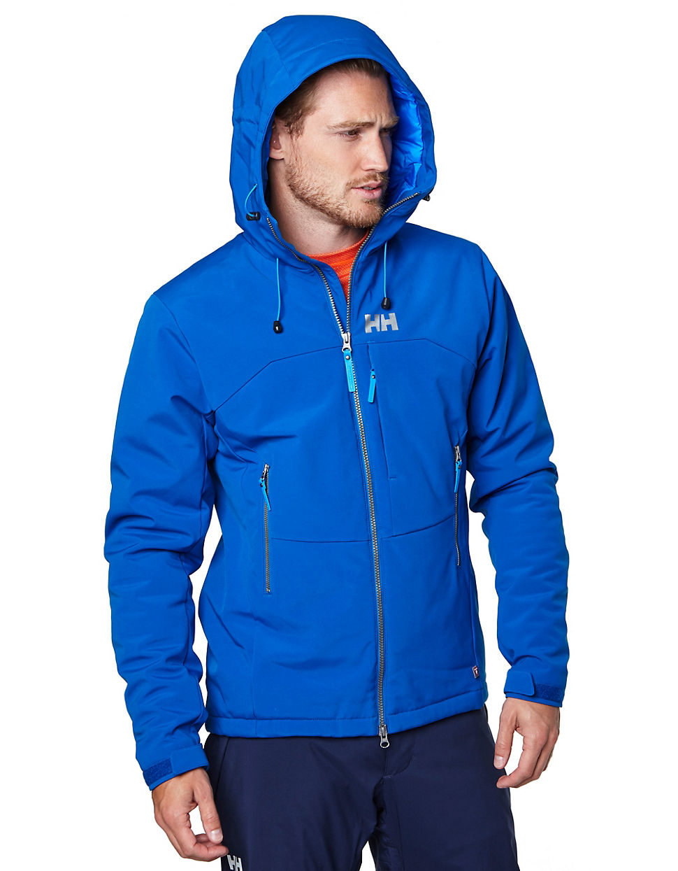 lyst helly hansen paramount insulated softshell jacket in blue for men. Black Bedroom Furniture Sets. Home Design Ideas