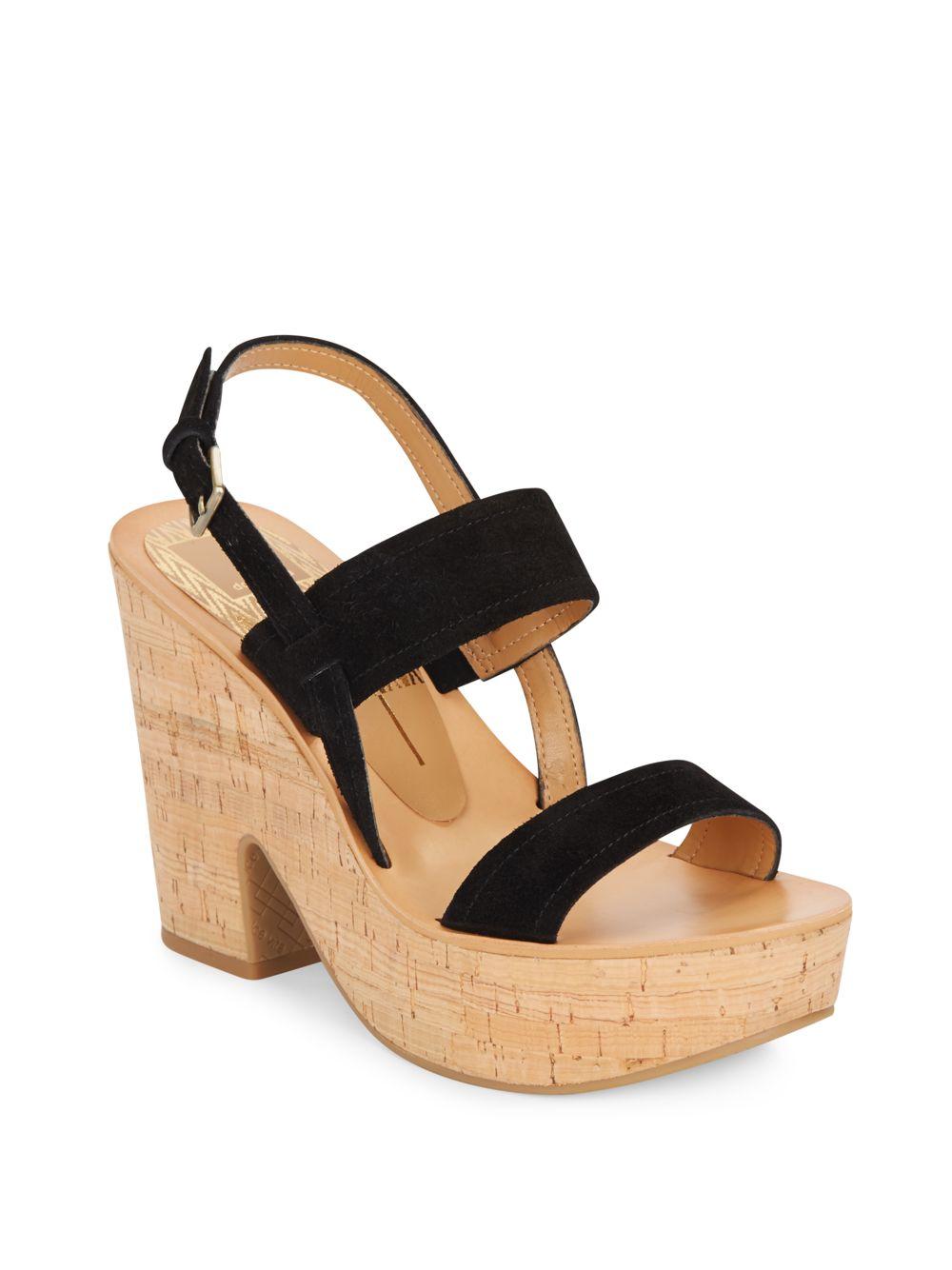 af242b164f5 Lyst Dolce Vita Rosa Suede Platform Sandals In Black. Dolce Vita Randi M  Womens Platform Heels Shoes Sku 8744217