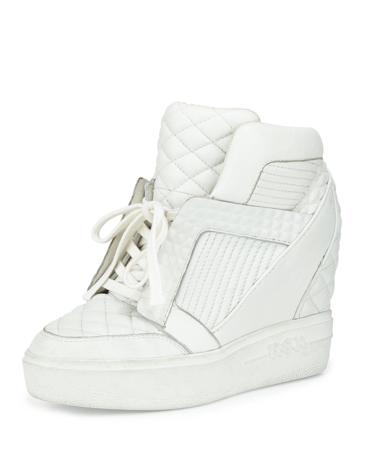 Lyst - Ash Azimut High-Top Wedge Sneakers in White f2658188a