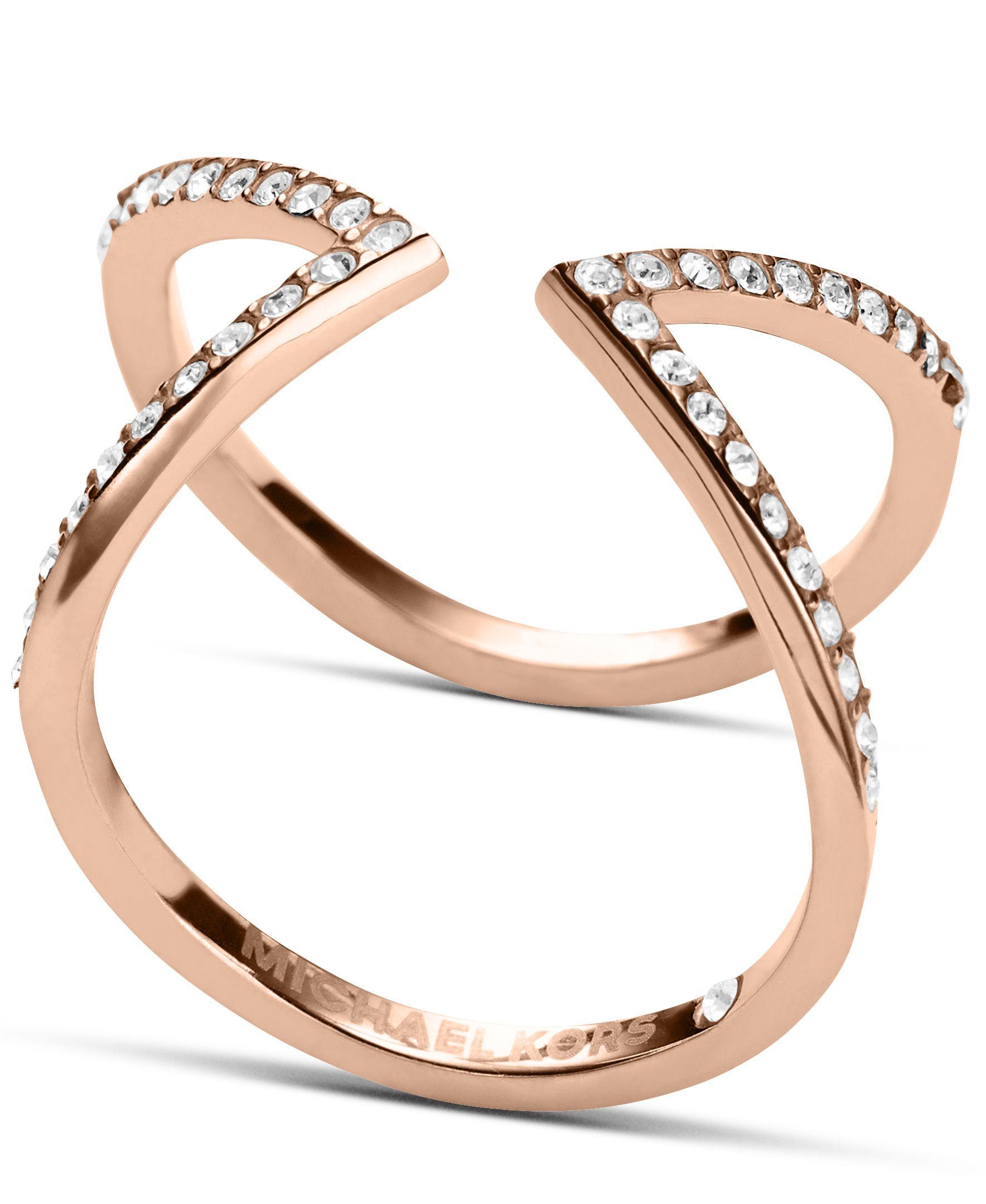 lyst michael kors brilliance crystal arrow ring ring. Black Bedroom Furniture Sets. Home Design Ideas