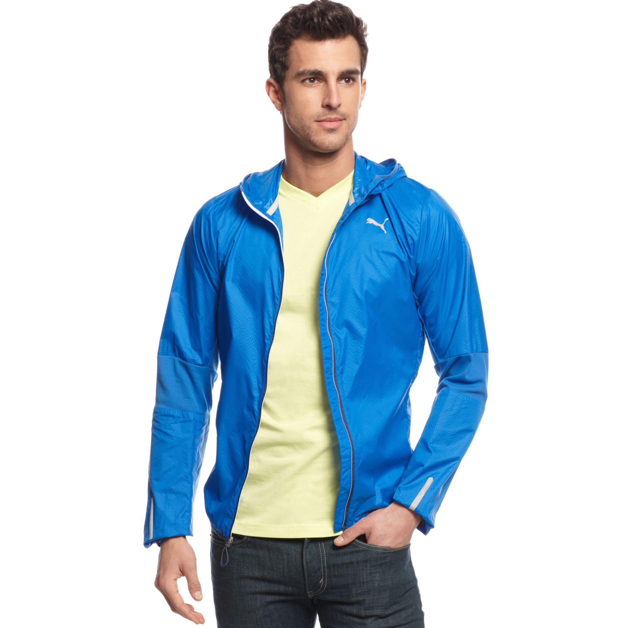 941cb6919389 Lyst - PUMA Pure Lightweight Hooded Jacket in Blue for Men