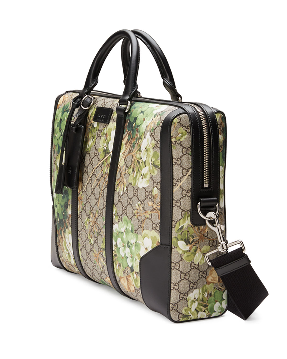 5c72d2a6f7c Gucci Gg Blooms Printed Canvas Briefcase in Metallic - Lyst