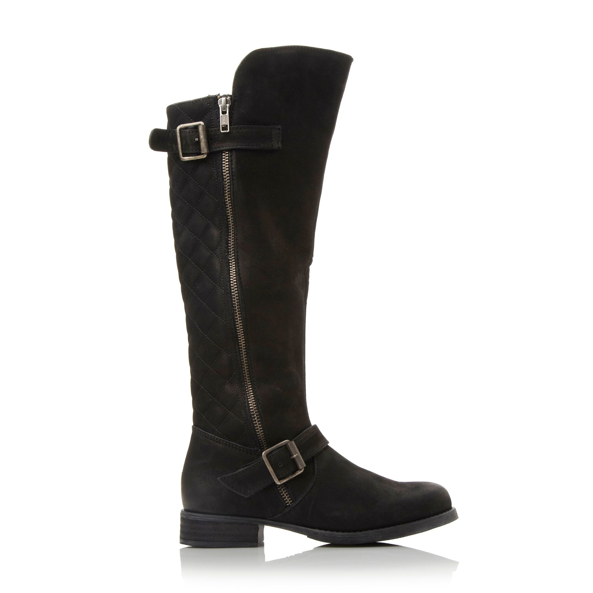 Steve madden Northrn Quilted Back Buckle Boots in Black | Lyst : quilted back boots - Adamdwight.com