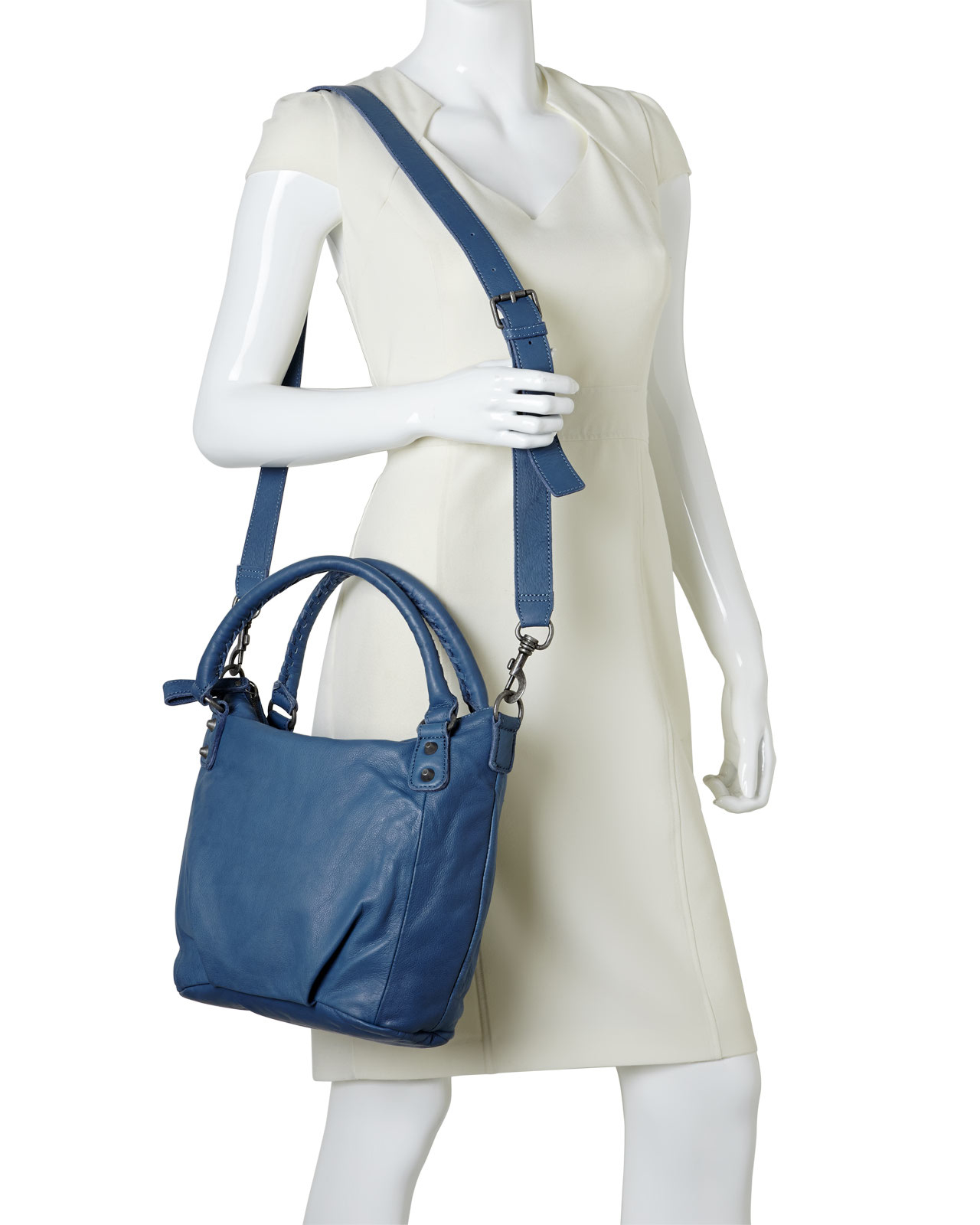 liebeskind soft blue gina vintage satchel in blue lyst. Black Bedroom Furniture Sets. Home Design Ideas