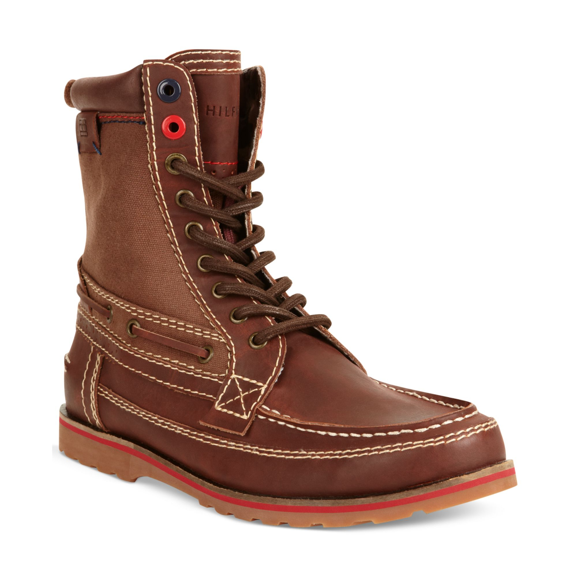 tommy hilfiger hawk boots in red for men wine lyst. Black Bedroom Furniture Sets. Home Design Ideas