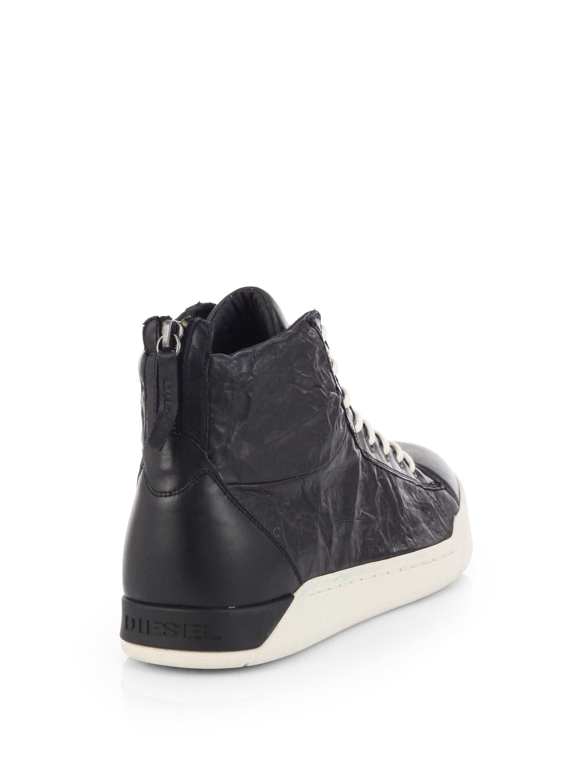 Diesel Tempus Leather High-Top Sneakers wVA3ao3