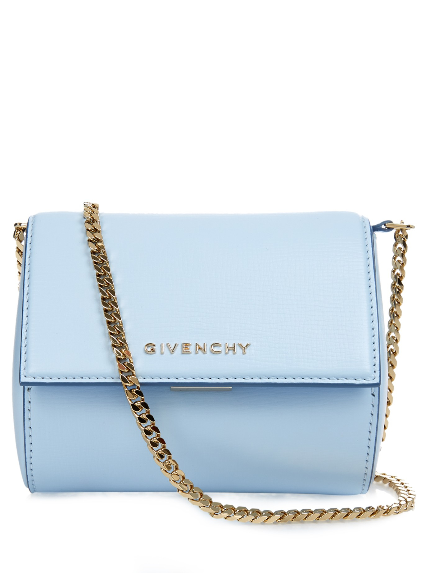 52439b04085 Givenchy Pandora Box Leather Cross-Body Bag in Blue - Lyst