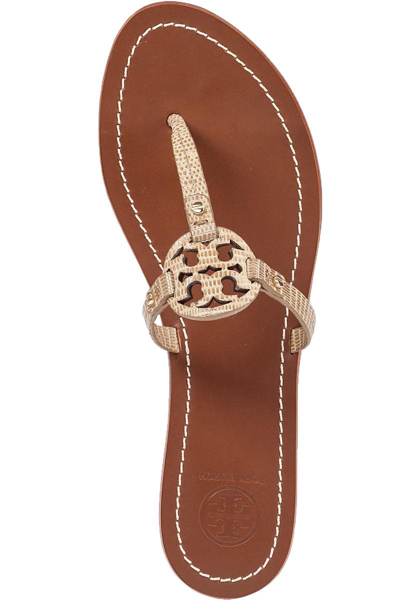 a6ff39d71ec Lyst - Tory Burch Mini Miller Flat Sandals in Natural