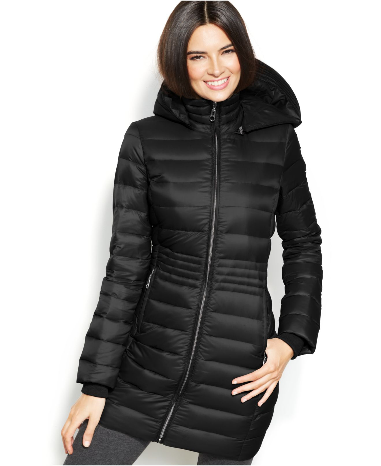 9df3be36f Lyst - INC International Concepts Hooded Quilted Packable Down ...