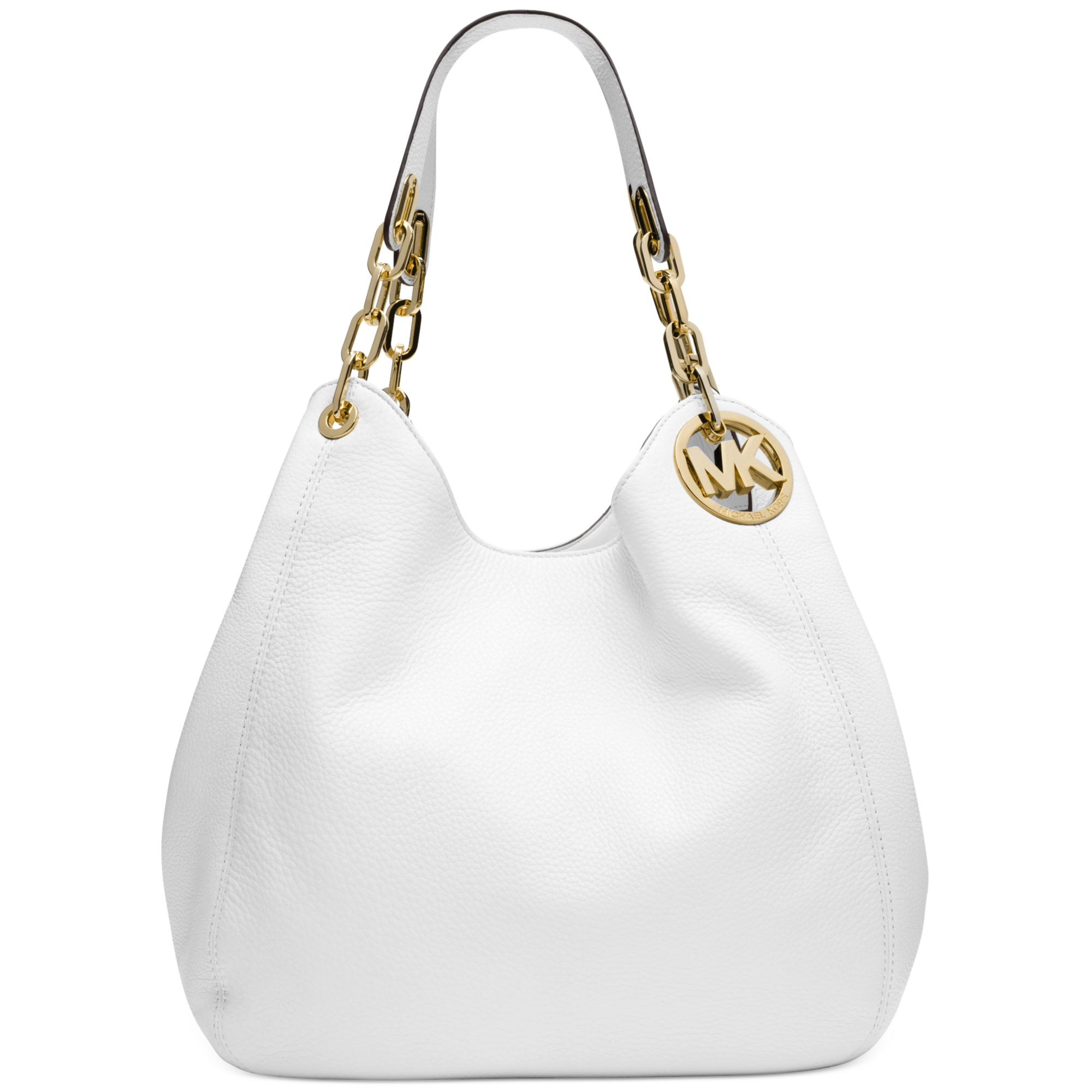 b39bdacb6730 ... best lyst michael kors michael fulton large shoulder tote in white  26d56 847d0