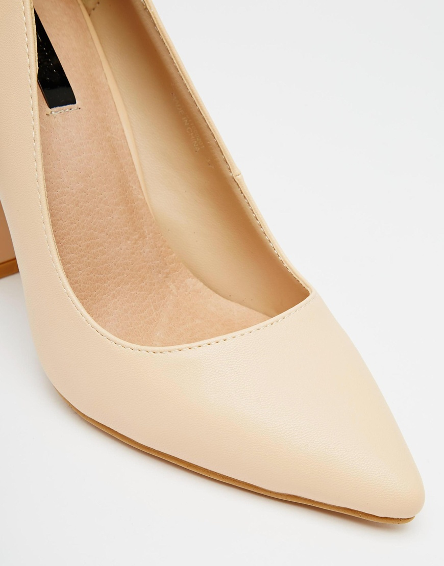 Dune Audrie Block Heel Mary Jane Shoes in Burgundy