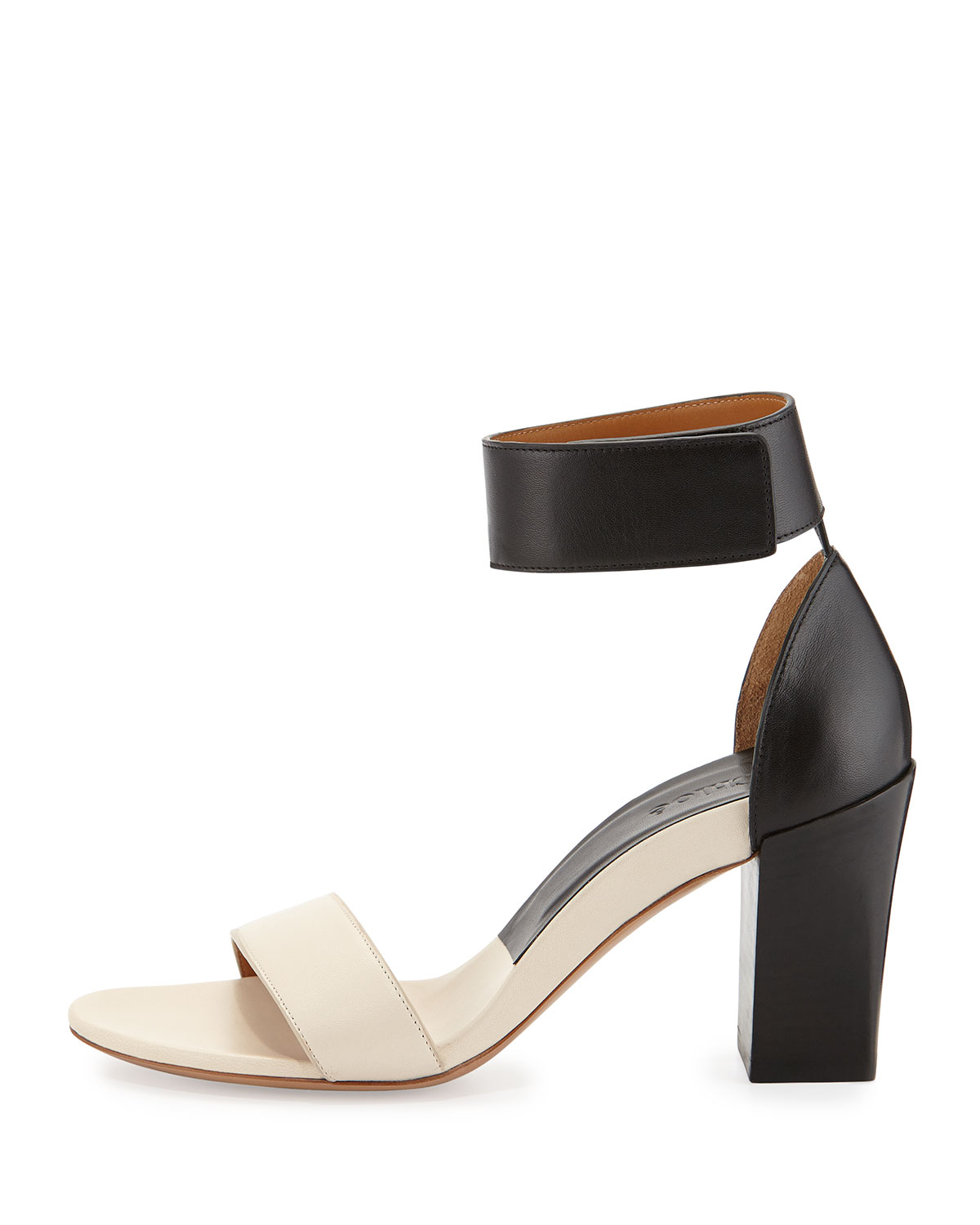 white sole strappy mid-heel sandals - Brown Chloé kMiMl