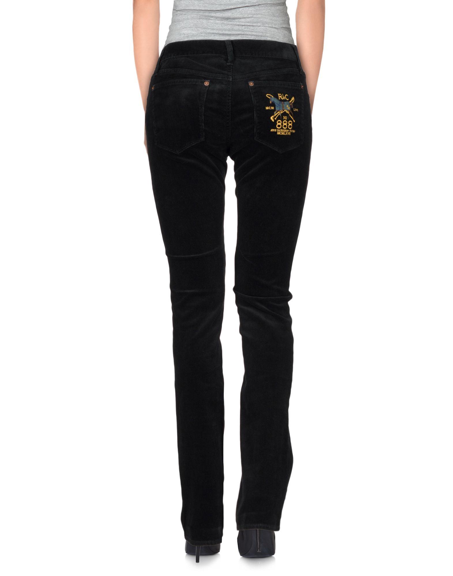 New Lauren By Ralph Lauren Crepe Skinny Pants In Red  Lyst