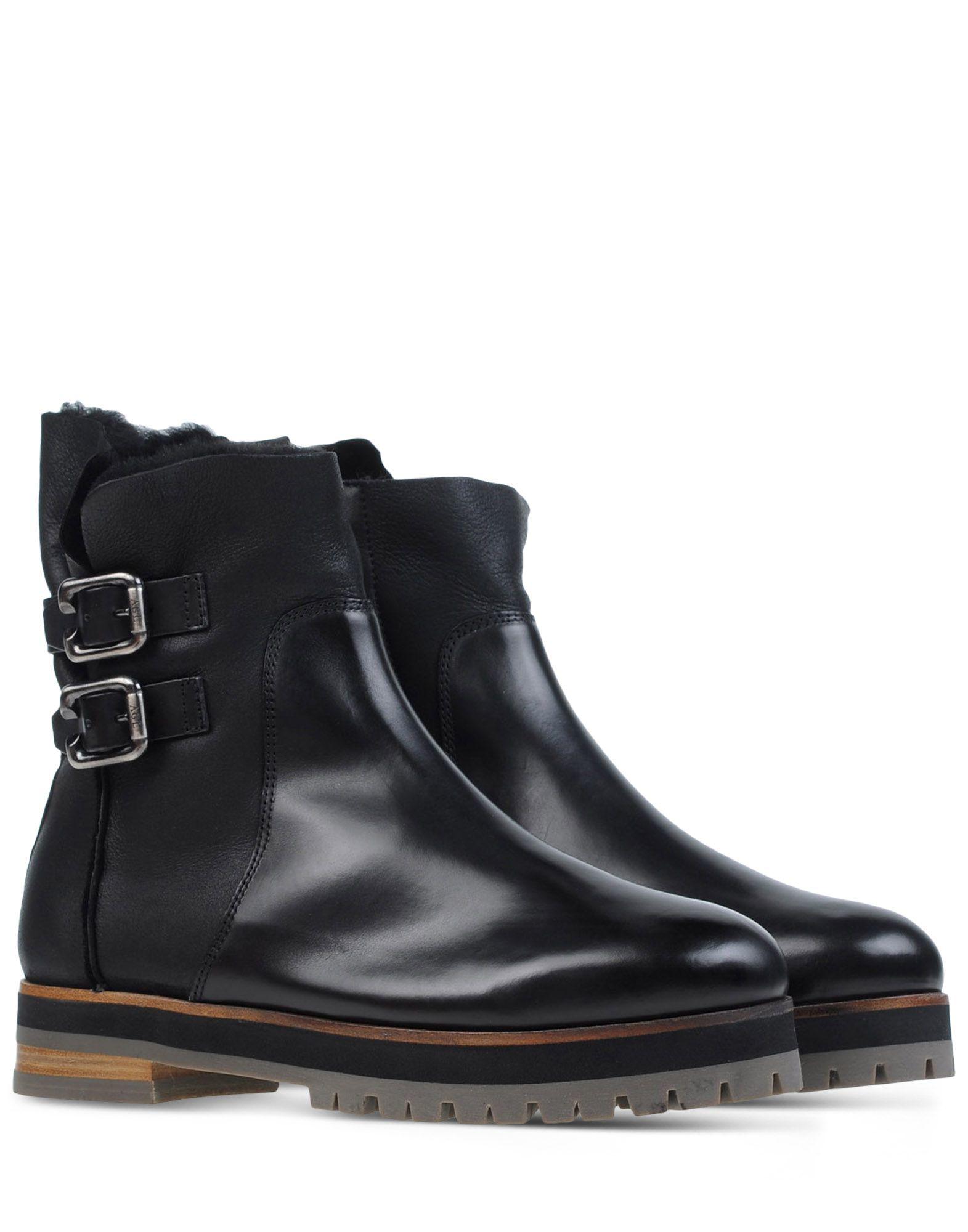 Agl attilio giusti leombruni Leather Ankle Boots in Black ...