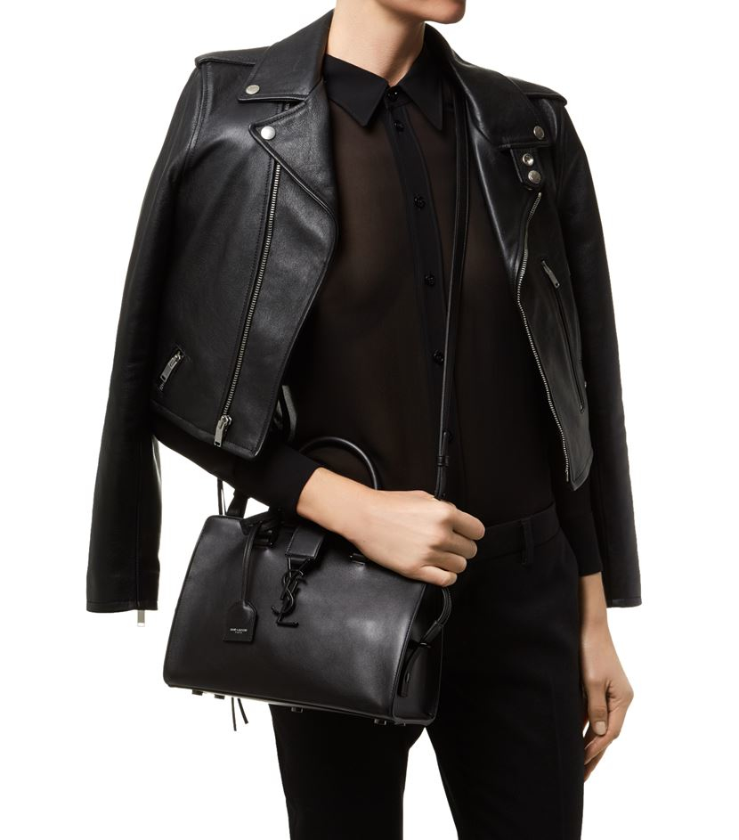 ysl chyc cabas mini tote bag - small cabas rive gauche bag in black crocodile embossed leather
