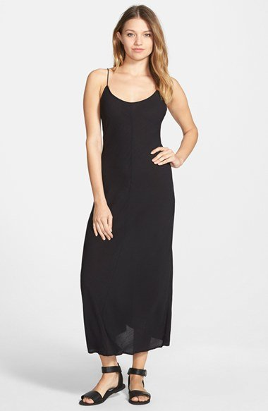 Volcom 39 21st century 39 maxi dress in black lyst for Century 21 dress shirts