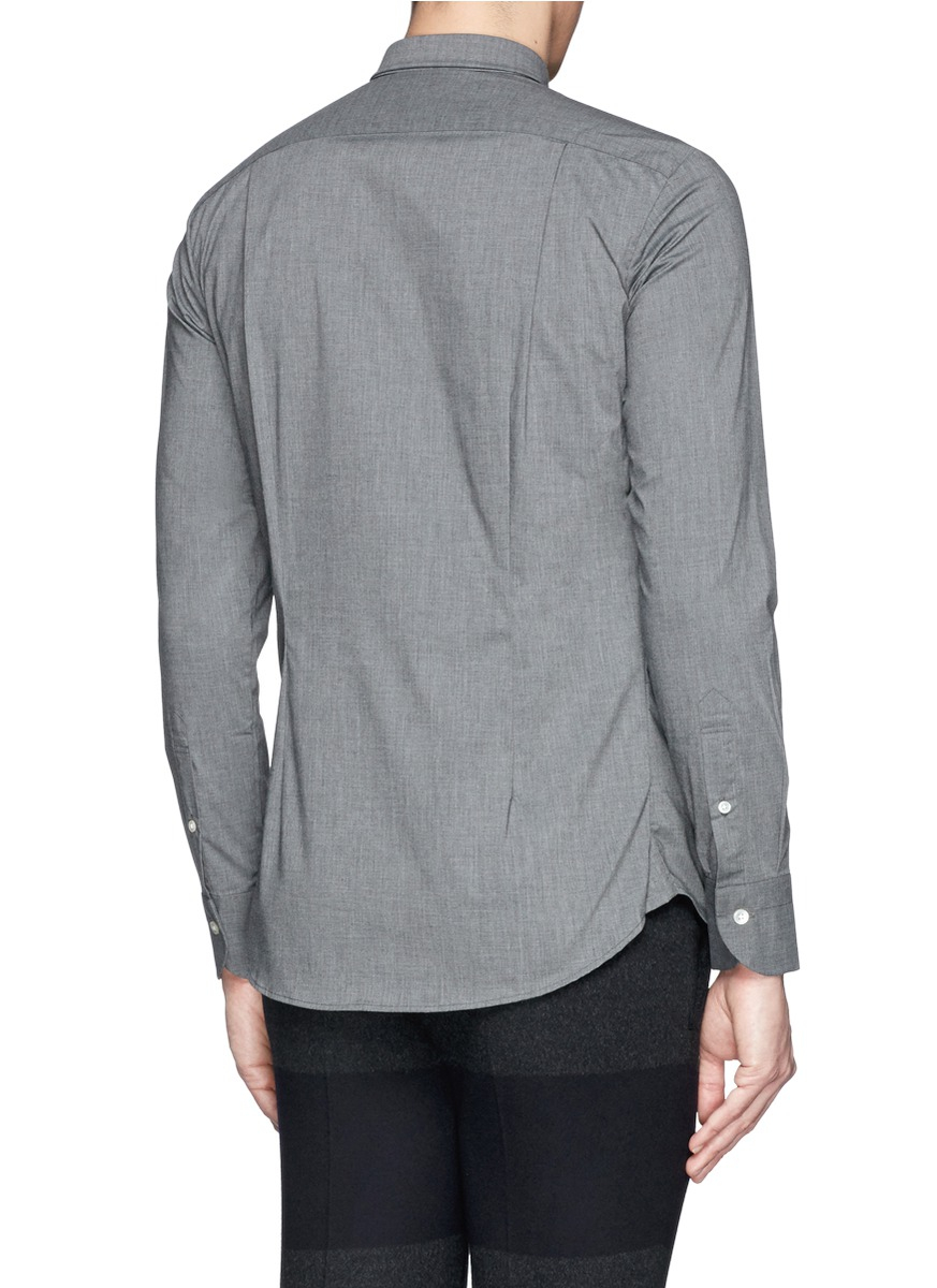 Lyst kolor super slim collar chambray effect shirt in for Super slim dress shirts