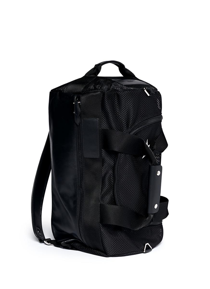 e9aa3bbcaf Lyst - Givenchy Mesh Leather Duffle Backpack in Black for Men