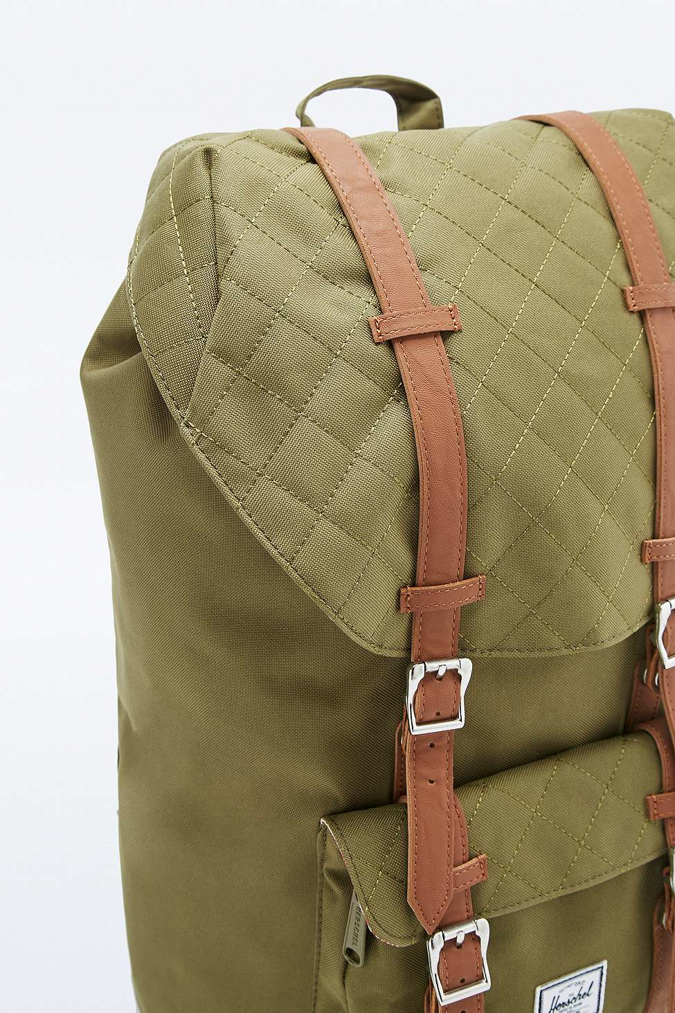 Herschel Supply Co. Little America Quilted Army Backpack in Green ... 70222347730a2
