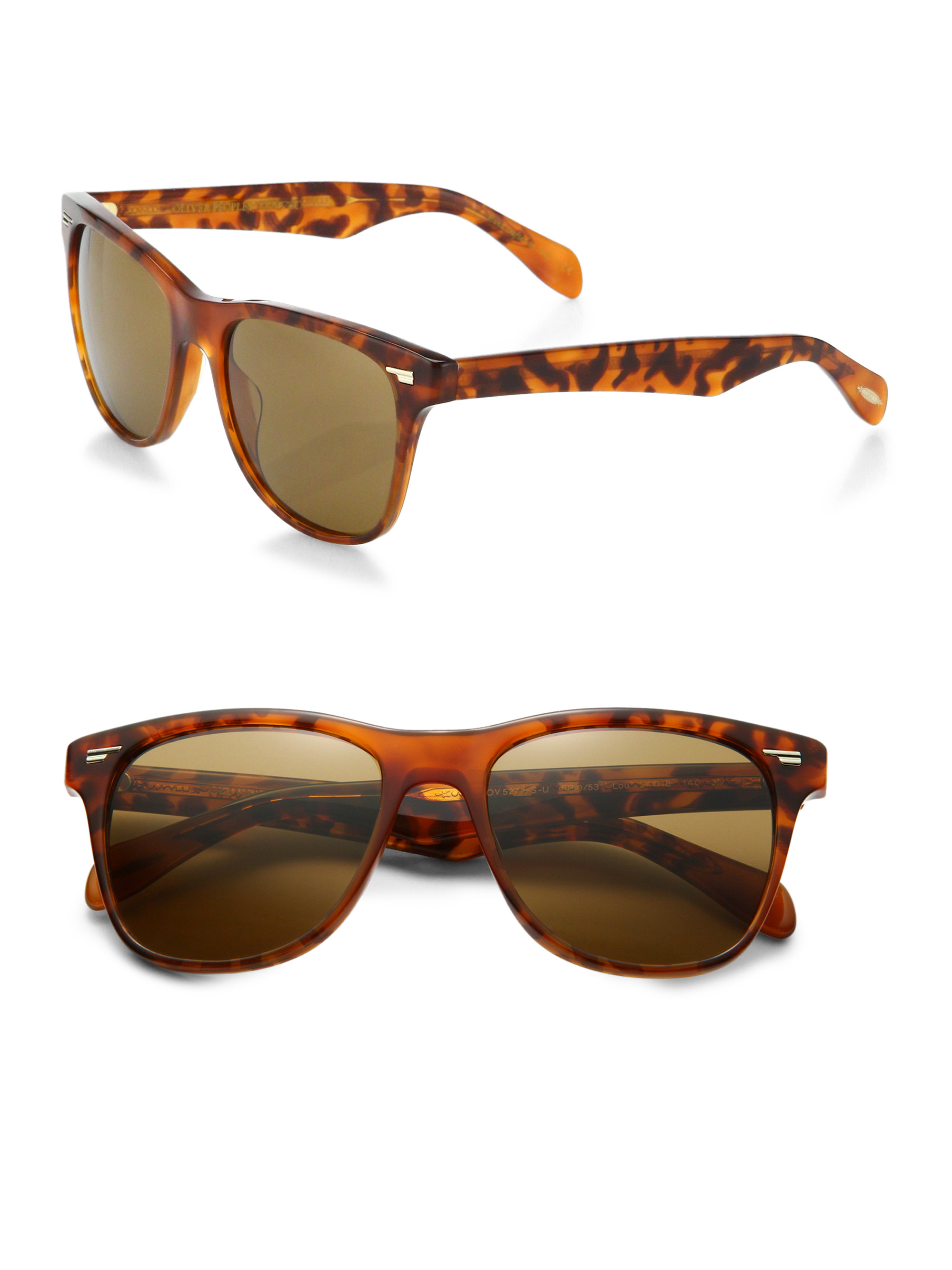 8ca23659c4d Lyst - Oliver Peoples Lou 54mm Printed Acetate Sunglasses in Brown ...