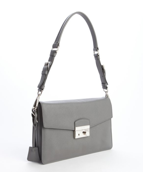e6db961694c0 ... coupon code for lyst prada marble grey leather convertible clutch bag  in gray a3440 4a660