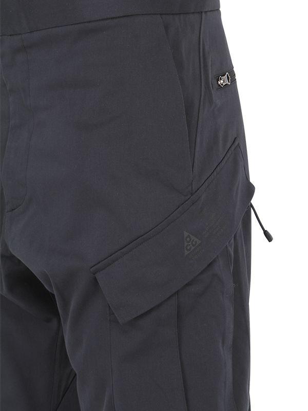 Nike Acg Dwr Tech Wool Blend Cargo Pants In Black For Men