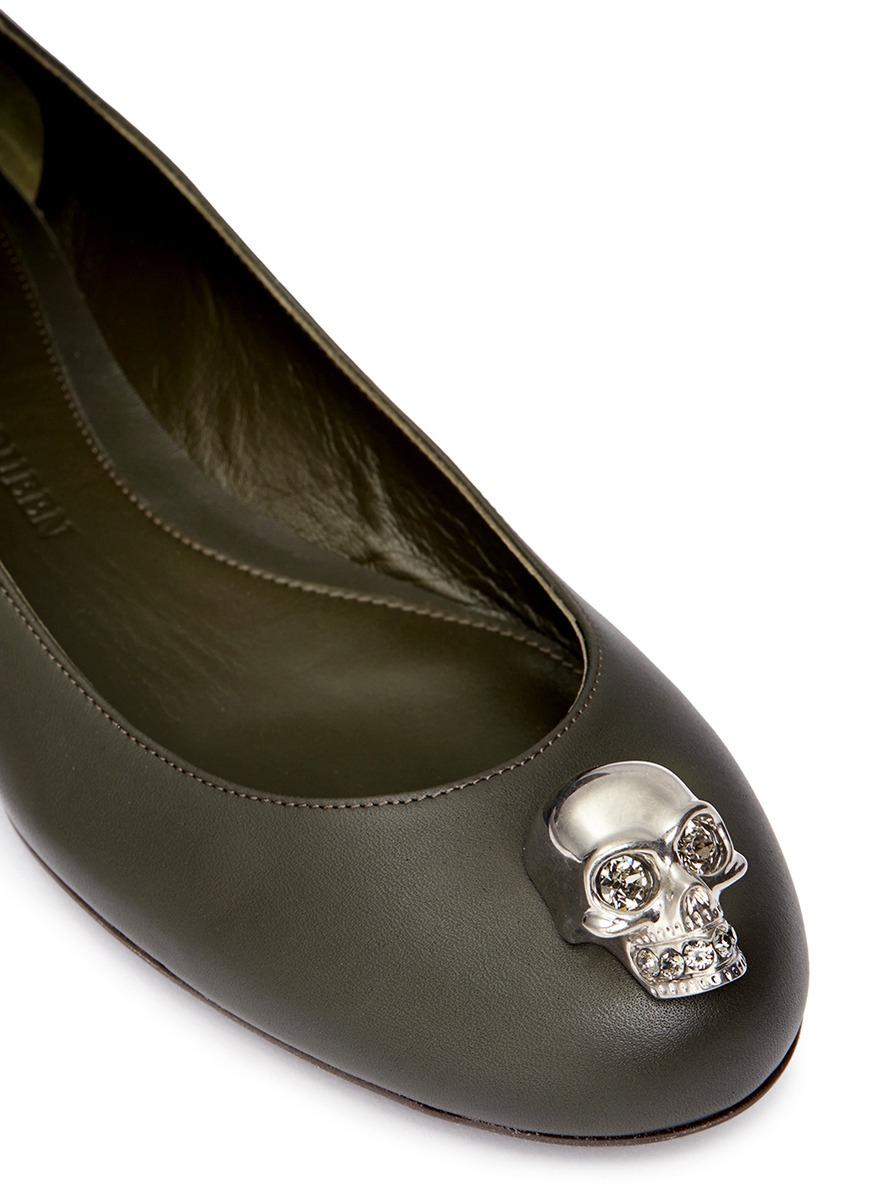 Alexander McQueen Leather Ballet Flats rLIp3qk