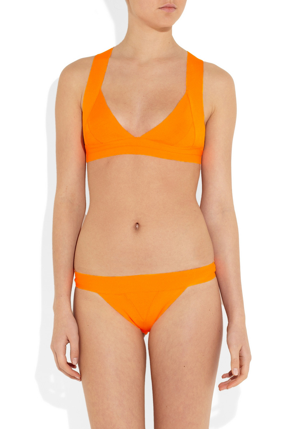 Herv 233 L 233 Ger Bandage Triangle Bikini In Orange Lyst