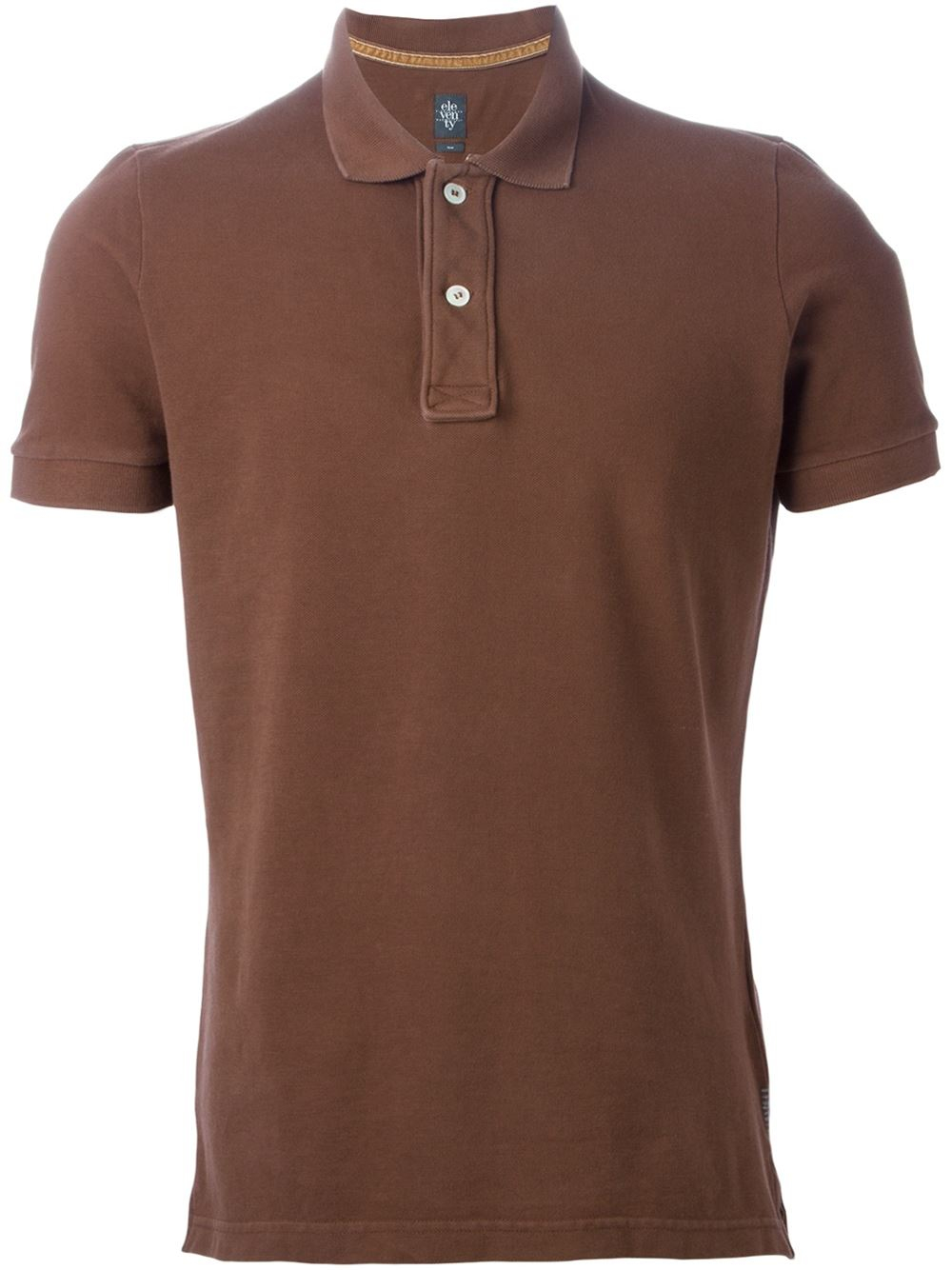 Eleventy Classic Polo Shirt In Brown For Men Lyst