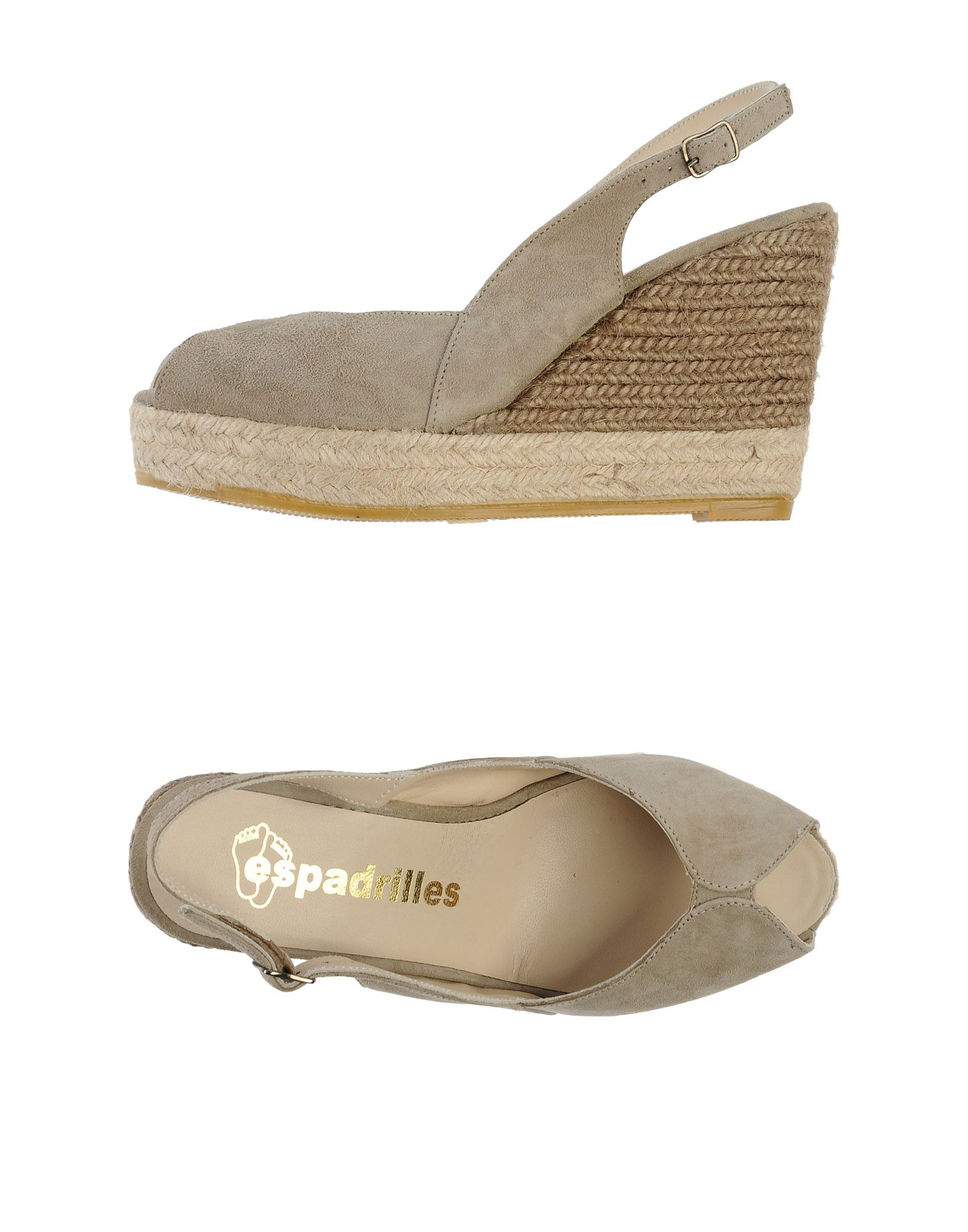 espadrilles heels wedges wedge sandals in gray light grey