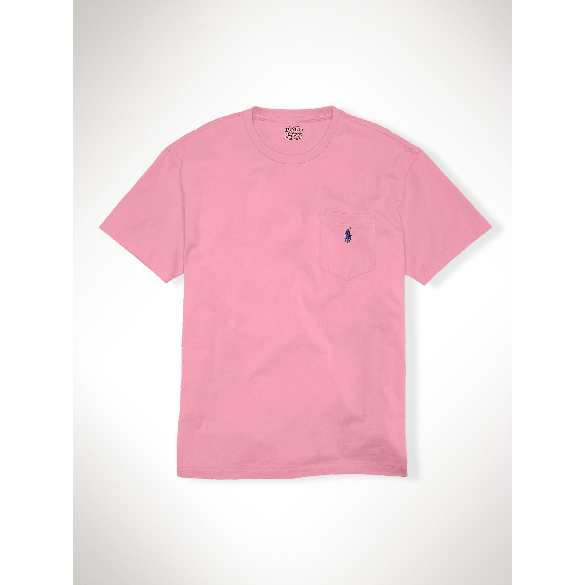polo ralph lauren classic fit pocket t shirt in pink for. Black Bedroom Furniture Sets. Home Design Ideas
