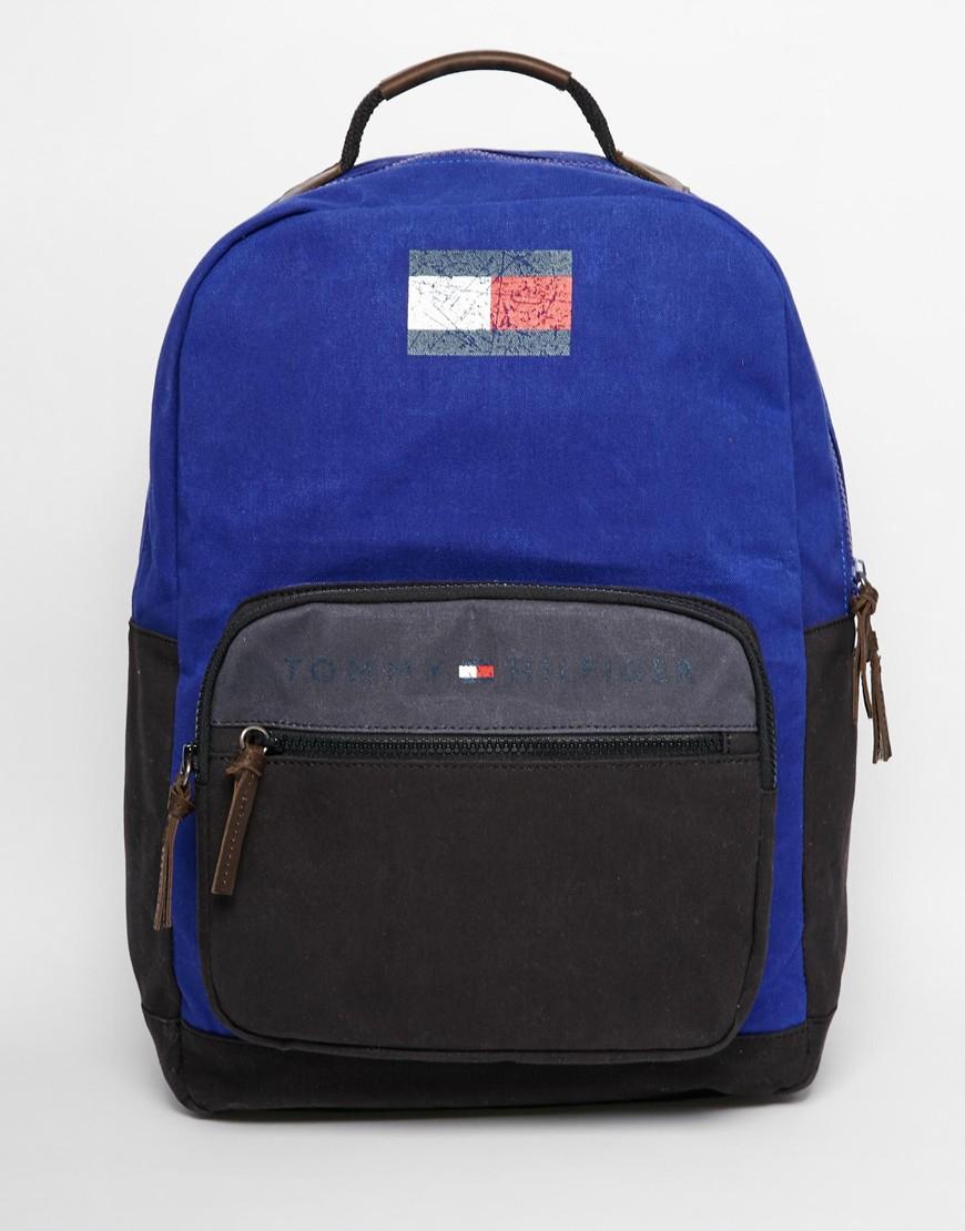 lyst tommy hilfiger lance backpack in blue for men. Black Bedroom Furniture Sets. Home Design Ideas