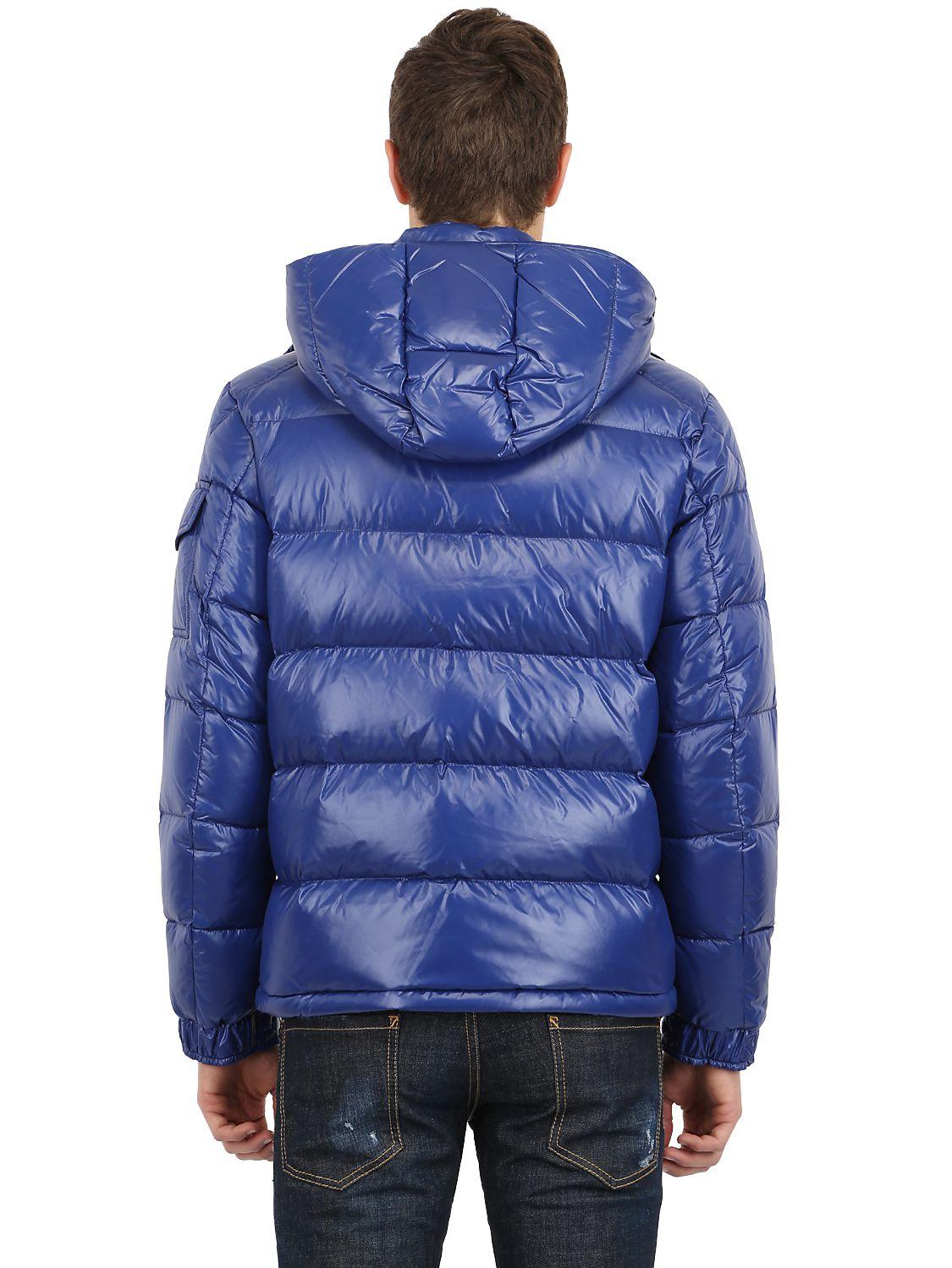 moncler blue nylon maya jacket