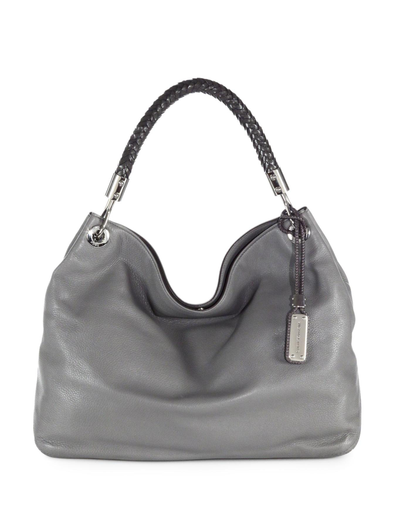 Michael Kors Skorpios Large Hobo Bag In Gray Lyst
