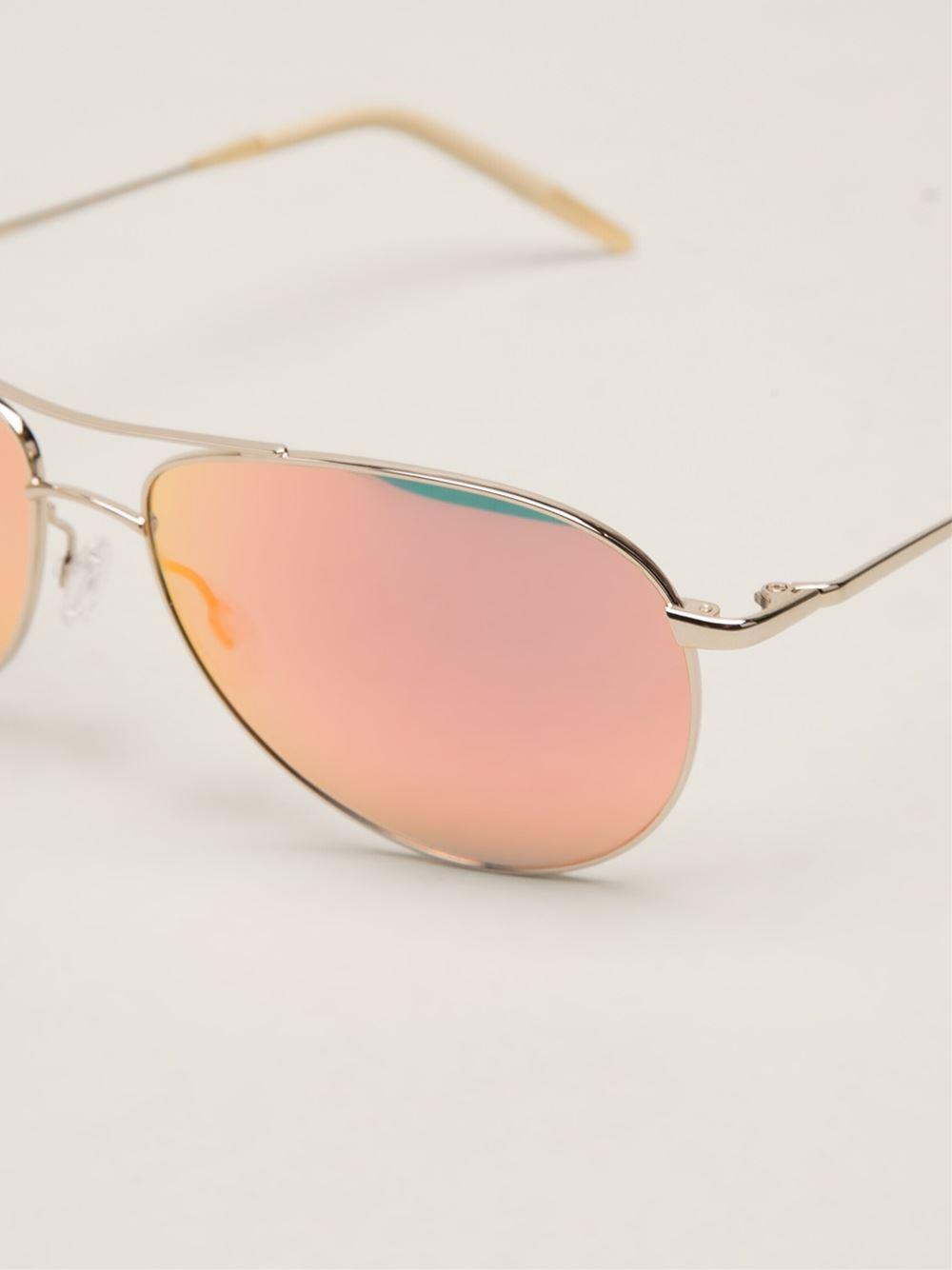 f9beb1cc1c Lyst - Oliver Peoples  Benedict  Sunglasses in Metallic for Men